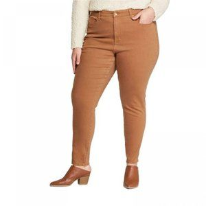 Universal Thread High Rise Skinny jeans brown Clay